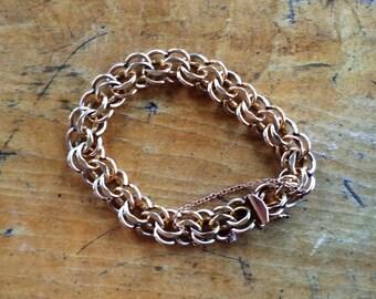 Forstner 12K GF Double Chain Link Charm Bracelet