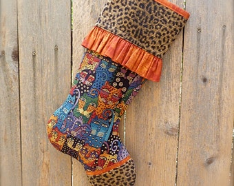 Cat Christmas Stocking ... Cat Lover Christmas Stocking ... Leopard Christmas Stocking ... Orange Christmas Stocking ... Tiger Christmas