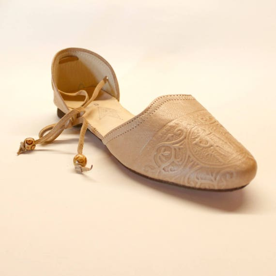 Leather flats women/sugar white leather flats/greek shoes/leather ballet flats dance shoes
