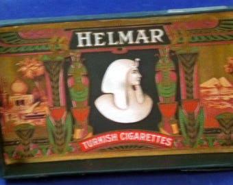 Vintage Helmar Turkish Cigarettes Box, 1910 (empty)