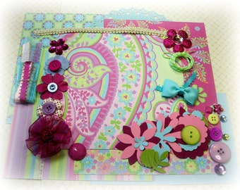 K & Co. Inspiration Kit, Embellishment Kit, Life Project Kit for Scrapbooking Cards Mini Albums Tags and Paper crafts 1