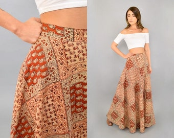70's India Cotton Maxi Skirt