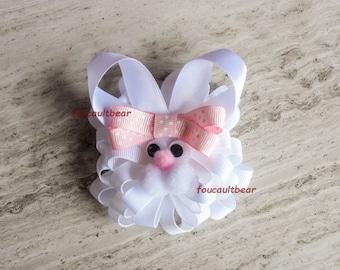 Le Moyen Bunny Rabbit Hair Bow Barrette Clip Easter for Ponytail Custom Boutique