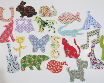 20 Iron on Appliques Baby Girl Appliques Baby Shower Activity Onesie Appliques