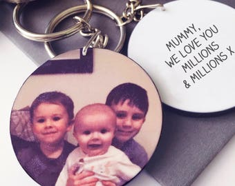 Mum's Photo Keyring