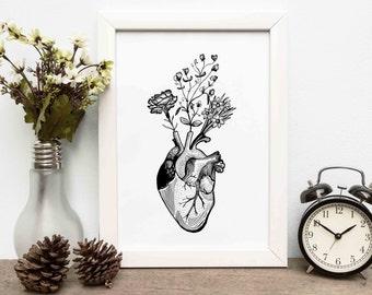 Custom design, Hand drawn Commission, tattoo design, commissioned artwork, made to order custom art