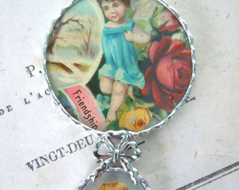 Fiona & The Fig - Original Victorian Cupids - Soldered Charm - Necklace - Pendant-Jewelry