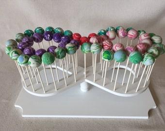 Custom Made Smaller Infinity Symbol Cake Pop Stand.  Holds 54 Cake Pops.