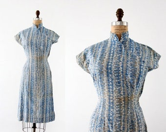 SALE 1960s cheongsam dress, vintage Asian style dress
