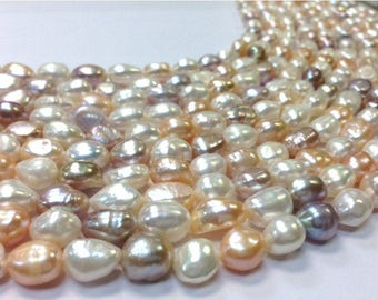 8 to 11 mm Freshwater Pearl Nugget Beads - Multi Mixed Color Full Strand (G0904NW28)