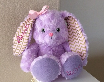 Stuffed Bunny, Plush soft bunny, Easter Bunny, Personalized Easter Bunny Baby Easter bunny