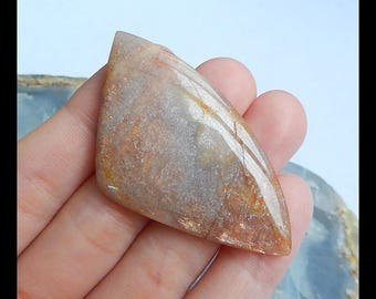 New!! Sale Shimmer Stone  Sun Stone Cabochon,Triangle Cabochon,53x29x5mm,9g(d0182)
