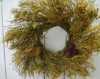 Autumn Wreath  Harvest Wreath  Caledonia Wreath  Natural Wreath Dried Wreath  Hand Crafted Wreath Door Wreath  Fall Wreath