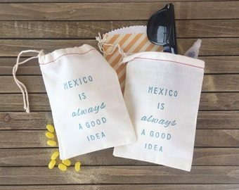 Mexico is always a good idea - Bachelorette Hangover Kit - Mexico Wedding Favor - Hangover Kit - Destination Wedding Favors - Beach Wedding