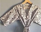 SALE. Bridal Robe. Wedding Robe. White Kimono Robe. Bridesmaid Robes. Hello Love. Knee and Mid Calf Length. Small thru Plus Size Kimono 2XL.