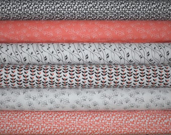 Lilla Fat Quarter Bundle of 6 by Lotta Jansdotter for Windham Fabrics
