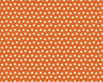 Spooktacular Twilight Orange Cream Stars 101.107.12.1  by Maude Asbury for Blend Fabrics