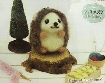 Japanese Animal Craft Kit of Wool Felt - Hedgehog