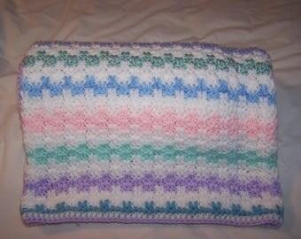 Crochet Blanket - Crochet Baby Blanket - Crochet Throw - Crochet Crib Blanket - Crib Blanket - Crib Afghan - Baby Afghan - Blanket - Throw