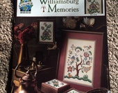Williamsburg Memories, Counted Cross Stitch Pattern, True Colors Cross Stitch Leaflet, BCL-10162, Flower, Pineapple, Tree, OFG