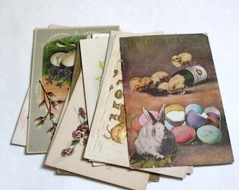 12 Antique Easter Postcards - Vintage Easter Crafts, Scrapbooking, Holiday Decor