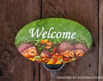 Wooden Welcome sign Home decor sign