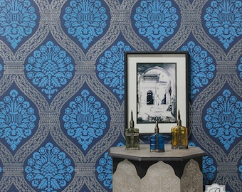 Macedonia Damask Wall Stencil - DIY home patterns for walls and interiors