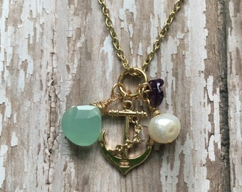 Gorgeous anchor charm necklace
