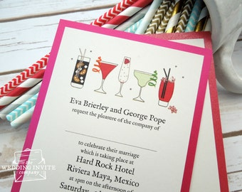 Cocktail Party Postcard Wedding/Evening Invitations