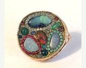 LOVE SALE Multi opal ring ooak