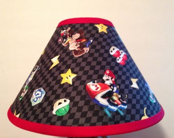 Super Mario Nintendo Fabric Childrens Lamp Shade