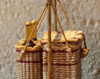 1:12th Scale Vintage Picnic Basket