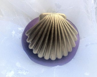 LARGE SEASHELL Flexible silicone push mold- fondant, wax, miniature foods, decoden, clay, resin, sweets, pmc