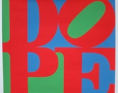 Vintage DOPE Poster 1970 - In The Style of Robert Indiana's LOVE, Made By S.B.S. Creative Designs