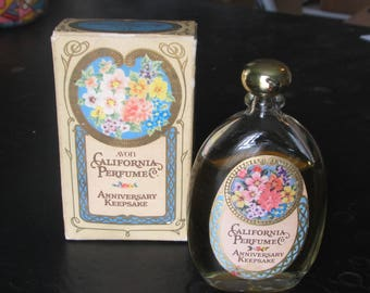 Avon California Perfume: Sweet Honest Anniversary Keepsake 1976