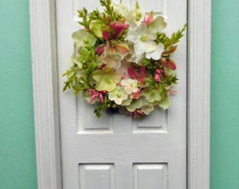 Soft Spring Colors in a Wreath for Your Dollhouse