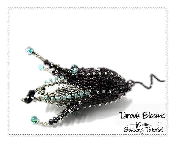Beading Pattern, Instructions, Tutorials, Peyote Stitch Beaded Flowers, Delica Beads Instant Download Pattern TAROUK BLOOMS