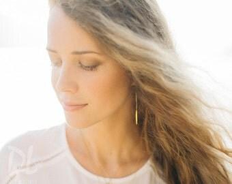 Needle Spike Earrings - Gold Ear Thread Earrings - Ear Threader Earrings - Minimal Jewelry - Long Gold Dangle Earring - Spike Charm