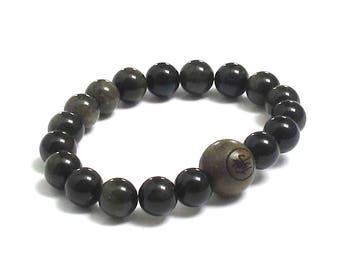Men Mala Bracelet Buddha Wood Bead Buddhist Worry Beads Chakra Bracelet Spiritual Inspiring Graduation Gift for Him Husband Yoga Teacher Dad