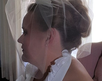 Two Tier Tulle Birdcage Veil