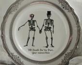 RESERVED for Ann-Marie - 2 Dinner Sets, Silver, Custom Skeleton Wedding Design