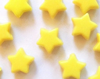 DISCONTINUED Yellow Star Pony Beads, 7x12mm, 400 beads