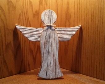 Rustic wood angel  #524