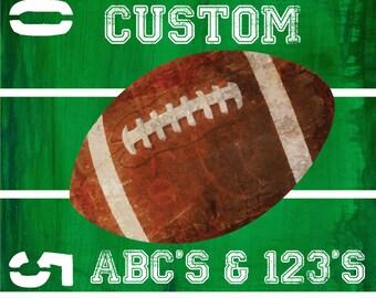 CUSTOM FOOTBALL Team ABC Nursery Art Print