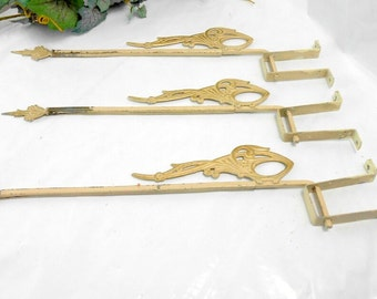 Antique stretch curtain rods extention curtain rod ornate iron rods with mount bracket proceeds go to Habitat for Hamanity French decor