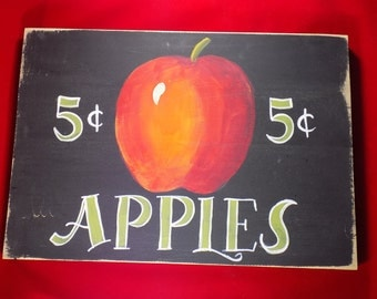 clearance priced - Apple Themed Country Sign