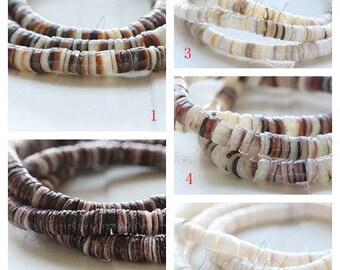 One Full 23 Inch Strand / Shell / Heishi / Semiprecious Stone//S40