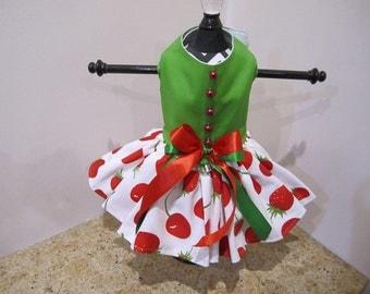 Dog Dress  Cherries And Strawberries