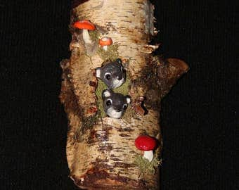 Wood Sculpture Carving -  Squirrel Sculpture - Wall Art