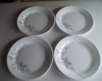 """4 Veranda Bread Plates 6 3/4"""", Made in the USA"""